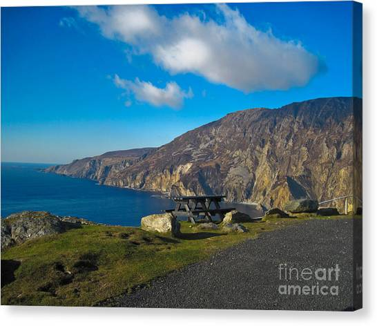 Picnic Time At Slieve League Ireland Canvas Print by Black Sun Forge