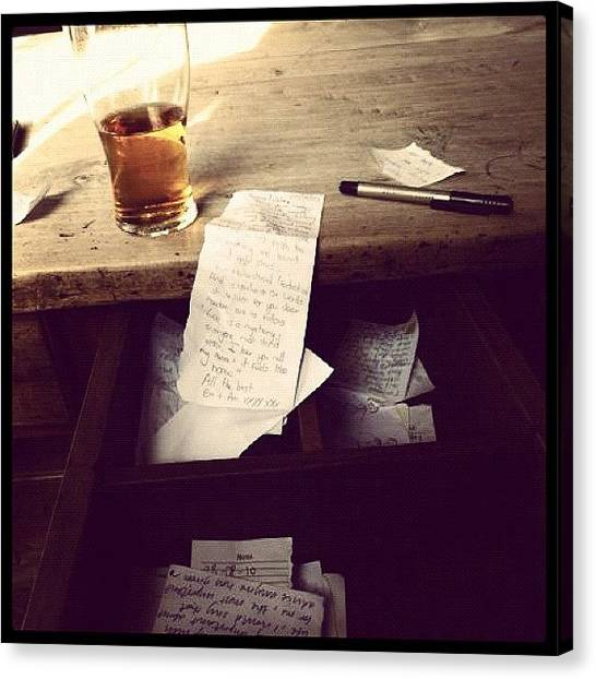 Pub Canvas Print - #picoftheday #beer #writing by Adam Davies