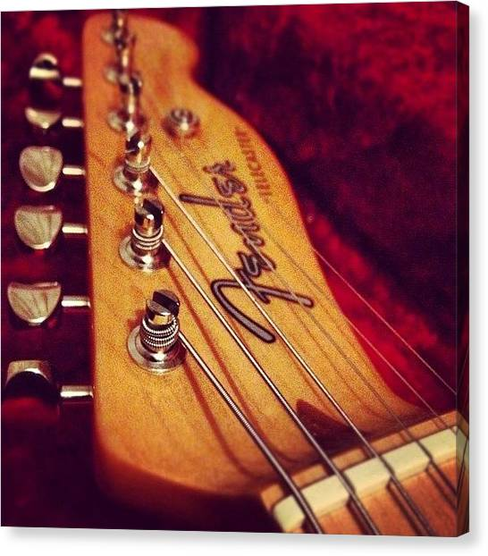 Fender Guitars Canvas Print - #picoftheday #photooftheday #rock by David Greer