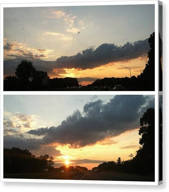 Pastel Canvas Print - #picstitch Almost Got My Sunset At The by Ryan S Burkett Photography