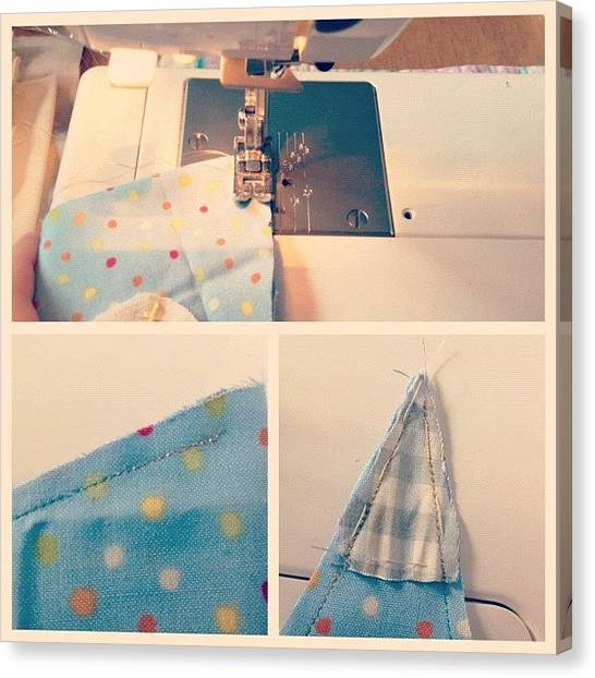 Triangles Canvas Print - #picstitch #collage #sewing #sewn by Grace Shine