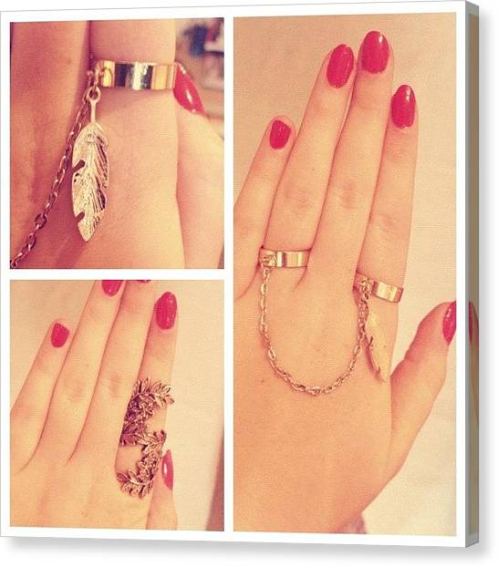 Big Red Canvas Print - #picstitch #jewellery #rings #gold #big by Grace Shine
