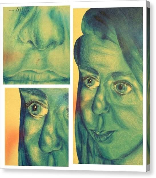 Pencils Canvas Print - #picstitch #laguna #blue #navy #skyblue by Grace Shine