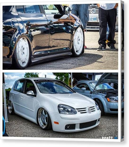 Audi Canvas Print - #picstitch #volkswagen #vagkraft #mk5 by Peter Rotolo