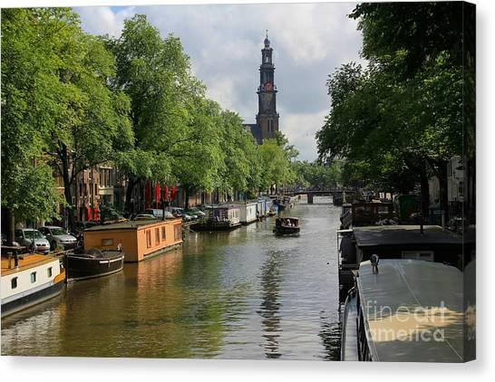 Picturesque Amsterdam Canvas Print by Sophie Vigneault