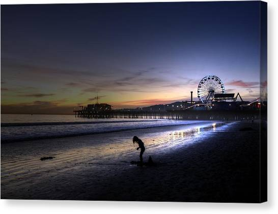 Pier Child Canvas Print