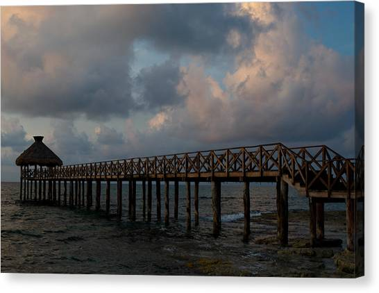 Pier Into Dawn Canvas Print