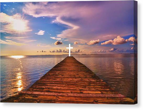 Pier Into Heaven Canvas Print