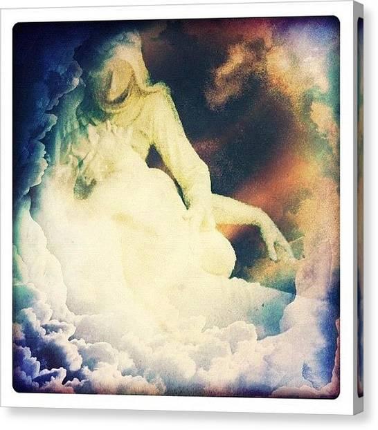 Saints Canvas Print - #pieta #cross #church #charity by Sherry Buchy