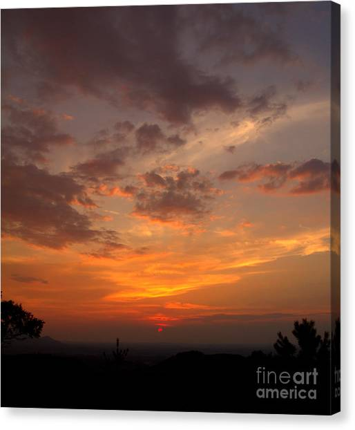 Pigeon Forge Sunset Canvas Print
