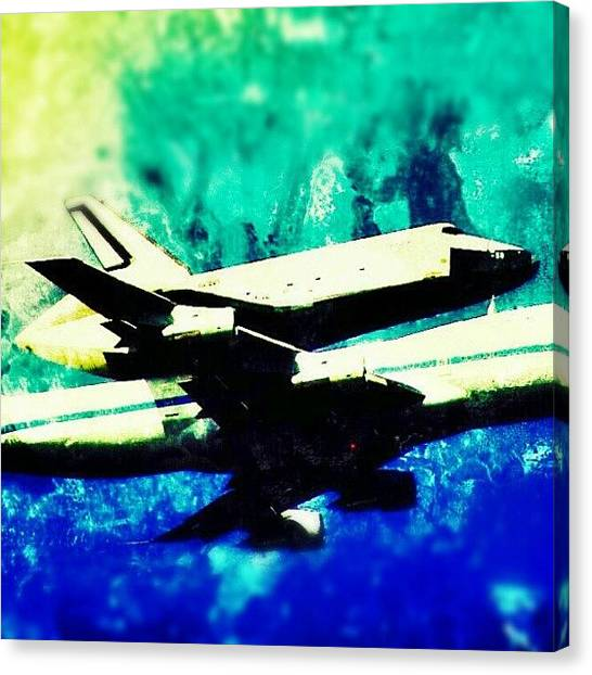 Space Shuttle Canvas Print - #piggyback #space #shuttle by Antonio DeFeo