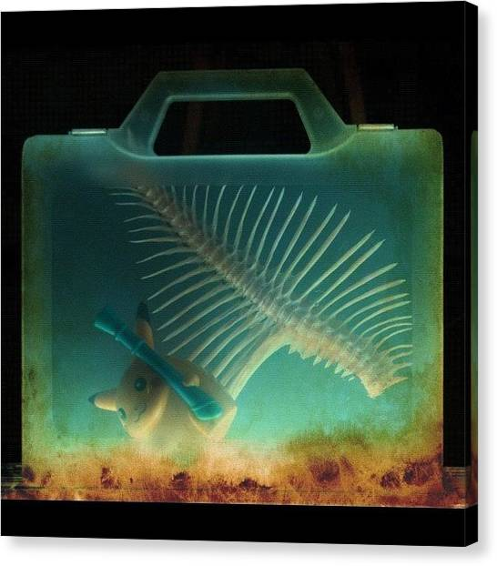Underwater Canvas Print - Pikachu Inside Briefcase by Giuseppe Anello