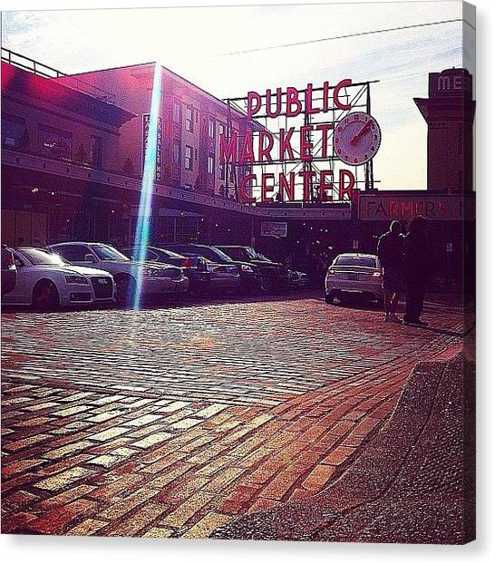Farmers Canvas Print - Pike Place Perfection by Esther Filip