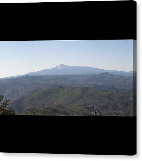Rocky Mountains Canvas Print - #pikes #peak From 60 Miles #west On Top by James Sibert