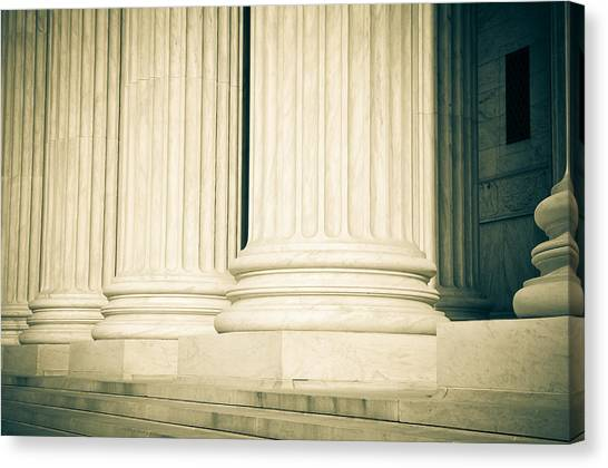 Pillars Of Law And Justice Us Supreme Court Canvas Print