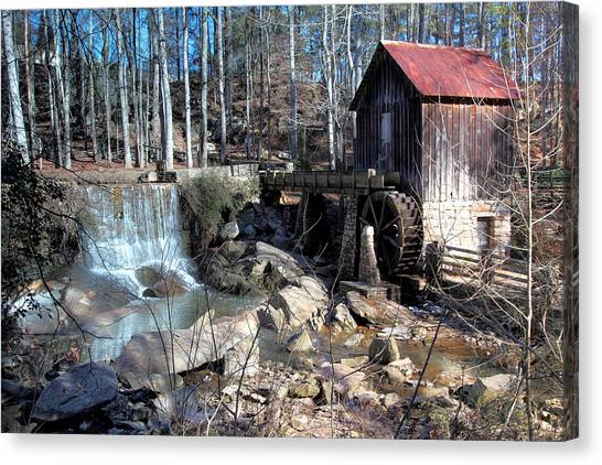 Pine Run Mill Canvas Print by Rick Mann