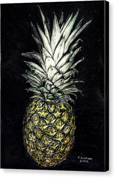 Pineapple Canvas Print by Robert Goudreau