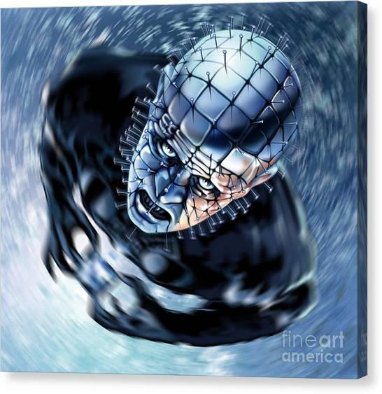 Pinhead Hellraiser Canvas Print by Brian Gibbs
