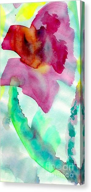 Pink And Red Bloom- Larger Size Available Canvas Print
