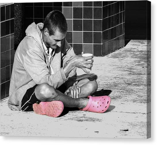 Pink Crocks Canvas Print by Don Durfee