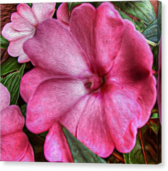 Pink Love Canvas Print by Jeanean Gendron