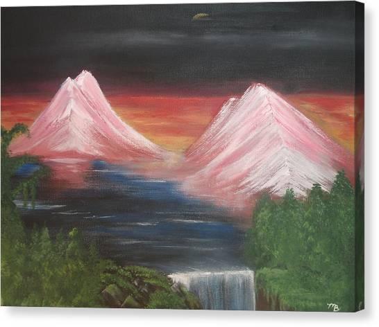 Pink Mountains Canvas Print by Melanie Blankenship
