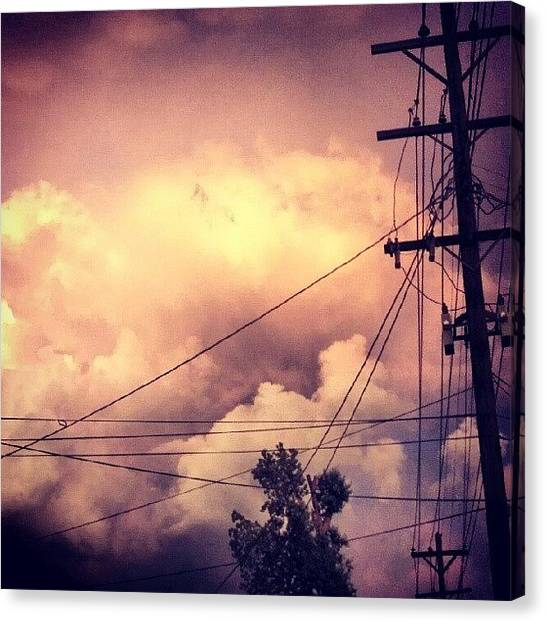 Kentucky Canvas Print - #pinksky #strangeclouds From A Few by Andi Bish