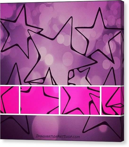 Romanticism Canvas Print - #pinkstars #lovepink #stars #shimmer by Mandy Shupp