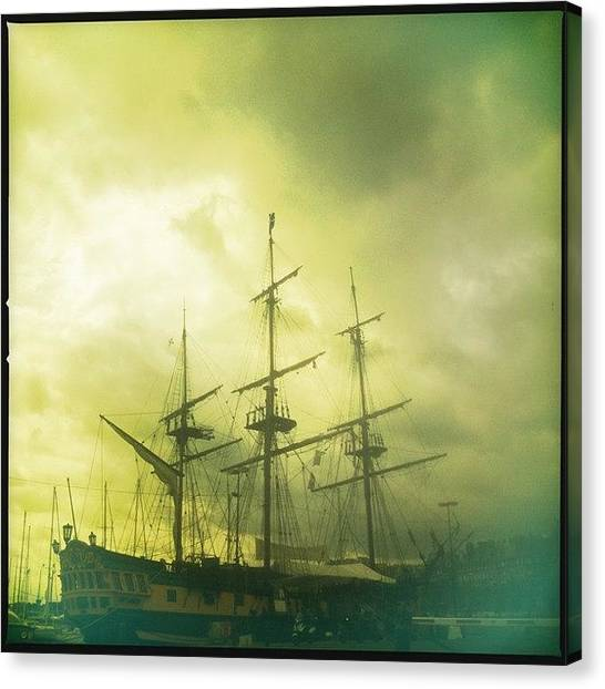 Saints Canvas Print - Pirate Ship @ Saint Marlo #ship #boat by Luke Cameron