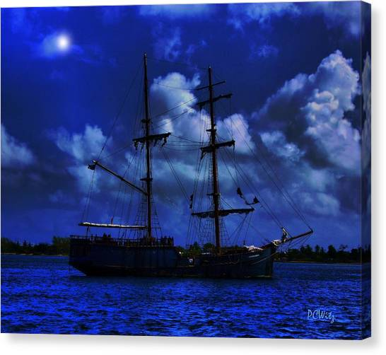 Pirate's Blue Sea Canvas Print