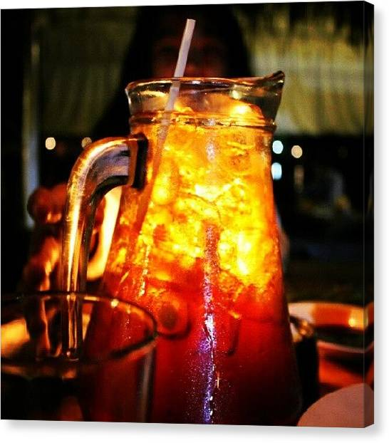 Iced Tea Canvas Print - Pitcher #icetea #bright #photography by Moch. Anindika Ramadhan