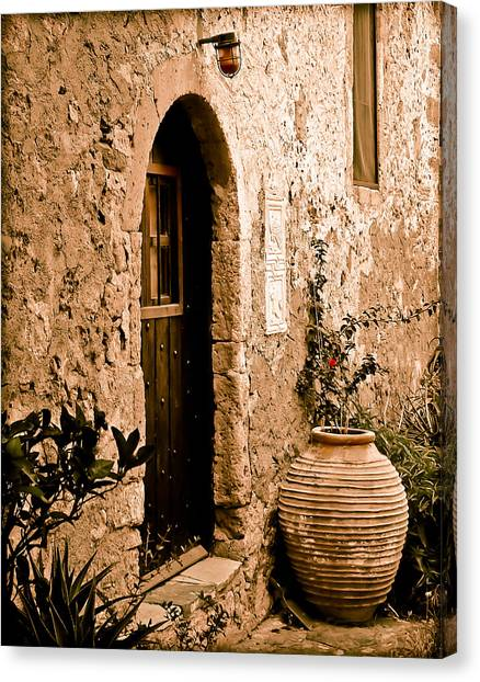 Monemvasia, Greece - Pithos Canvas Print