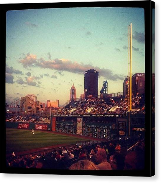 Home Runs Canvas Print - Pittsburgh Pirates At Pnc Park by DJ Flem