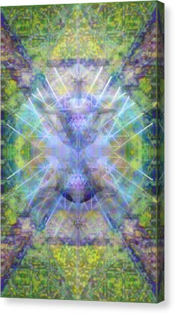 Pivortexspheres In Chalicell Garden Of Light Canvas Print