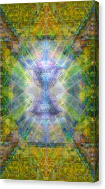 Pivortexspheres Lt On Chalicell Garden Tapestry Iv Canvas Print