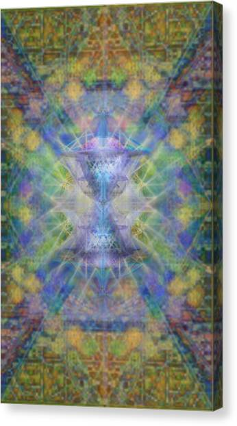 Pivortexspheres On Chalicell Garden Tapestry Ivb Canvas Print