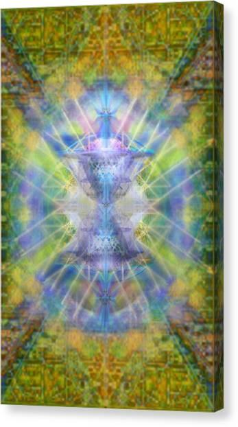 Pivortexspheres On Chalicell Garden Tapestry V Canvas Print