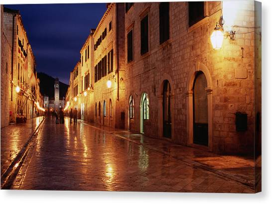 Placa At Twilight, Dubrovnik, Croatia Canvas Print by Lonely Planet