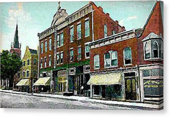 Plainfield Theatre In Plainfield N J 1907 Canvas Print by Dwight Goss