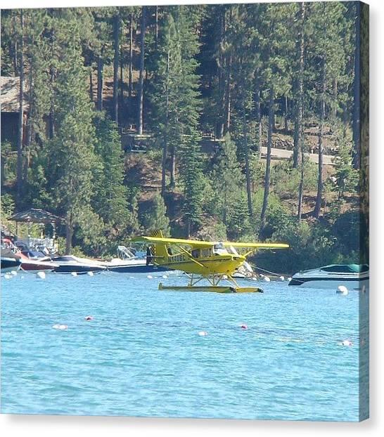 Seaplanes Canvas Print - Plane Parking #laketahoe #glenbrook by Marguerite Spieker