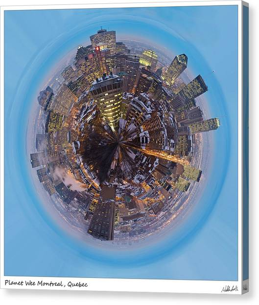 Quebec Canvas Print - Planet Wee Montreal Quebec by Nikki Marie Smith