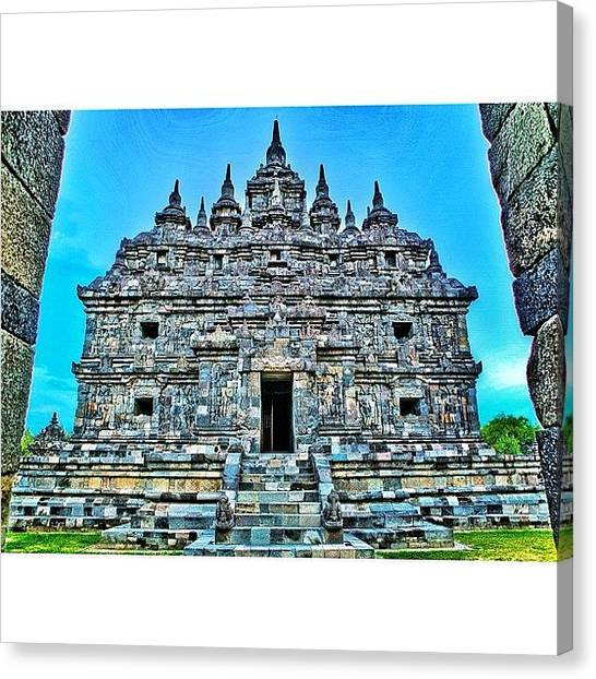 Famous Artists Canvas Print - Plaosan Temple Was Built In The Mid 9th by Tommy Tjahjono