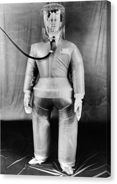 Plastic Protective Outfit Filled Canvas Print by Everett