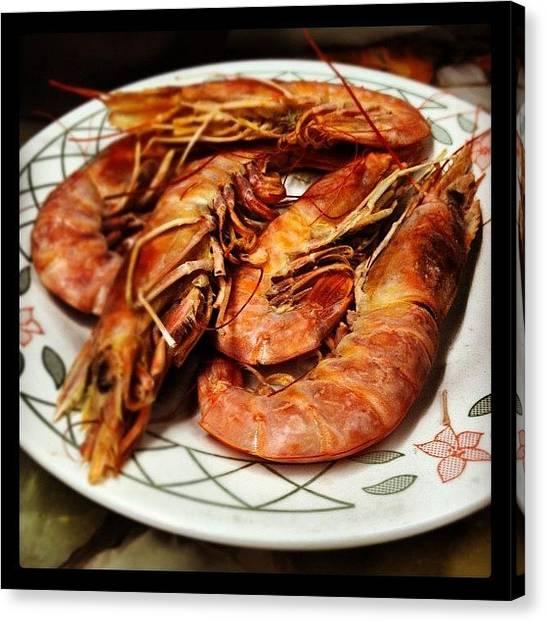 Seafood Canvas Print - Plato De Langostinos by Guillermo Santangelo