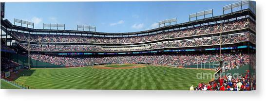 Strikeout Canvas Print - Globe Life Park, Home Of The Texas Rangers by Greg Kopriva
