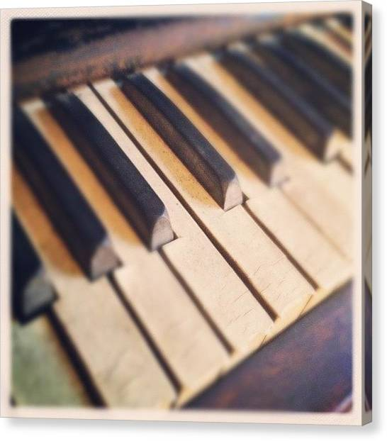 Keyboards Canvas Print - Play Me Something, Mister! by Molly Slater Jones