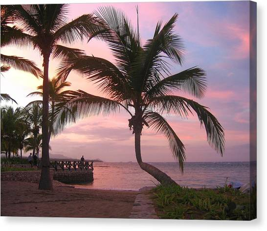 Playa Dorada Sunset 0681 Canvas Print