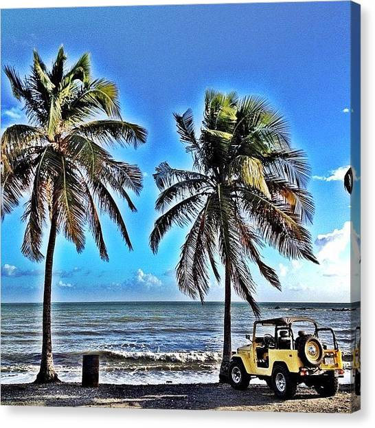 Jeep Canvas Print - #playa #fanduca #naguabo #puertorico by Havito Nopal