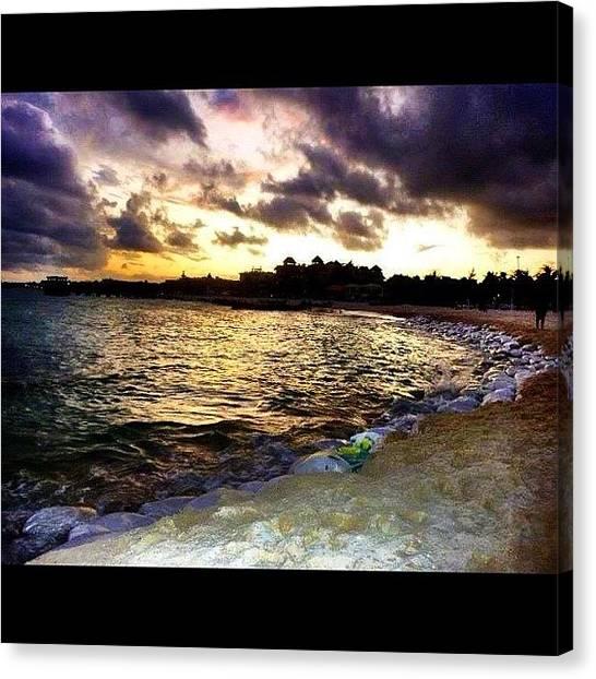 Ocean Sunsets Canvas Print - Playa Sunset #sunset #mexico by David Sabat
