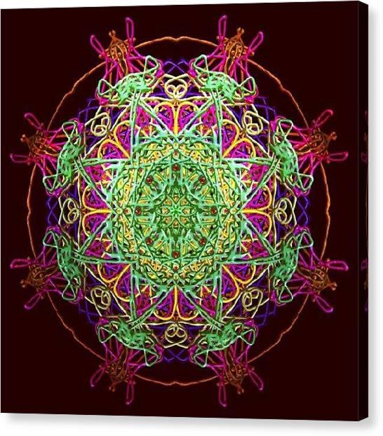 Spiritual Canvas Print - Playing Mandala by Vicki Field